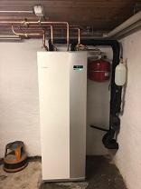Inverterstyrd NIBE 1255- 12 KW värmer effektivt